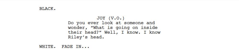 Joy Screenplay