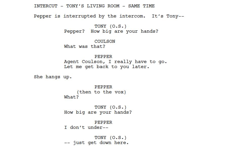 Iron Man Script